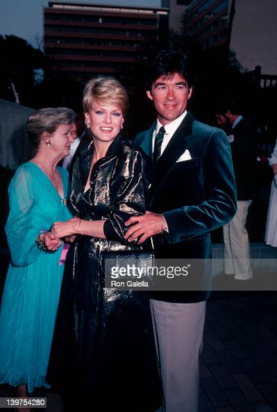 Actor Alan Thicke and wife Gloria Loring attending 'NBC Affiliates Party' on May 16 1983 at La Brea Tar Pits Museum in Los Angeles California