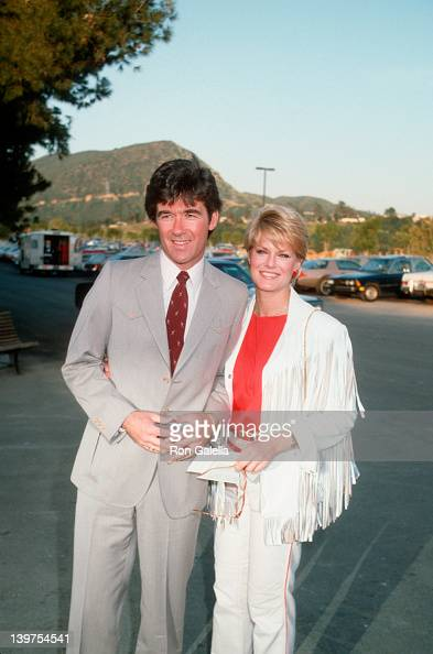 Actor Alan Thicke and wife Gloria Loring attending 'Share Boomtown Party' on May 7 1983 at the Shrine Auditorium in Los Angeles California