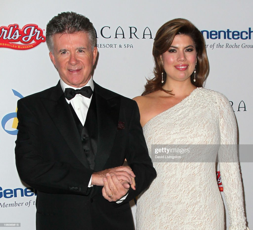 Actor <a gi-track='captionPersonalityLinkClicked' href=/galleries/search?phrase=Alan+Thicke&family=editorial&specificpeople=240157 ng-click='$event.stopPropagation()'>Alan Thicke</a> (L) and wife <a gi-track='captionPersonalityLinkClicked' href=/galleries/search?phrase=Tanya+Callau&family=editorial&specificpeople=235953 ng-click='$event.stopPropagation()'>Tanya Callau</a> attend the Dream Foundation's 11th Annual Celebration of Dreams at Bacara Resport and Spa on November 16, 2012 in Santa Barbara, California. Dream Foundation is a national organization that serves the final wishes of adults - and their families - facing life-threatening illness.