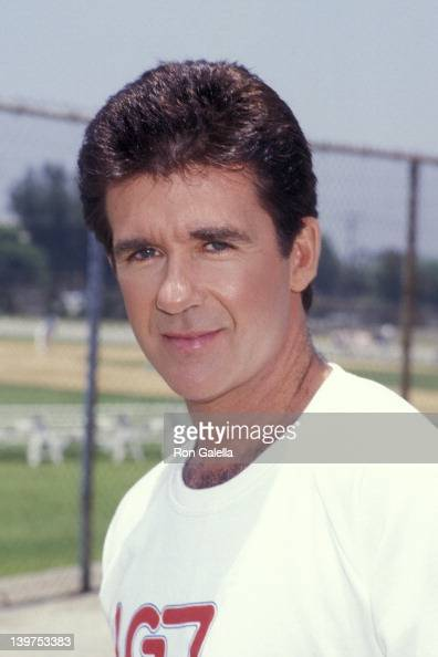 Actor Alan Thicke attending 'Benefit Softball Game for Team House' on June 14 1987 at the Granada Hills High School in Granada Hills California