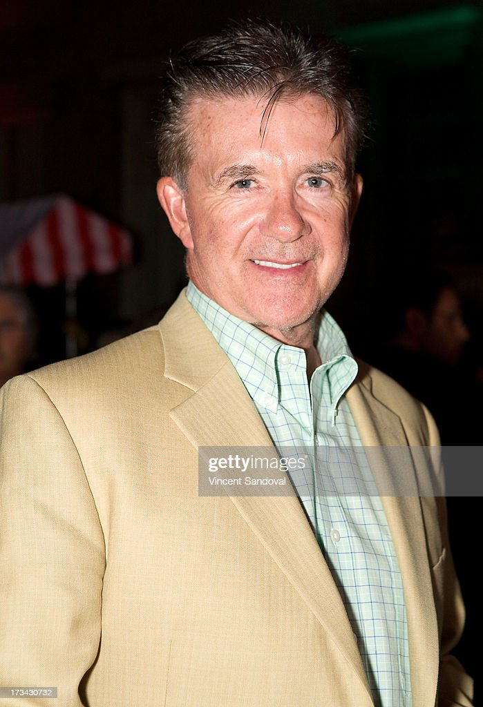 Actor <a gi-track='captionPersonalityLinkClicked' href=/galleries/search?phrase=Alan+Thicke&family=editorial&specificpeople=240157 ng-click='$event.stopPropagation()'>Alan Thicke</a> attends the Concern Foundation block party at Paramount Studios on July 13, 2013 in Hollywood, California.