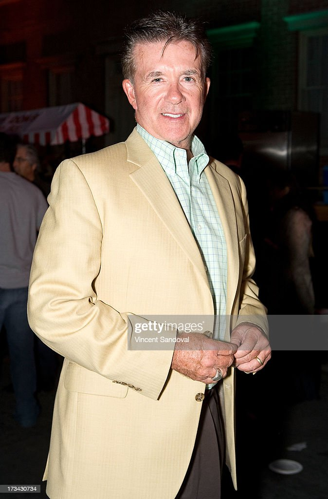 Actor Alan Thicke attends the Concern Foundation block party at Paramount Studios on July 13, 2013 in Hollywood, California.