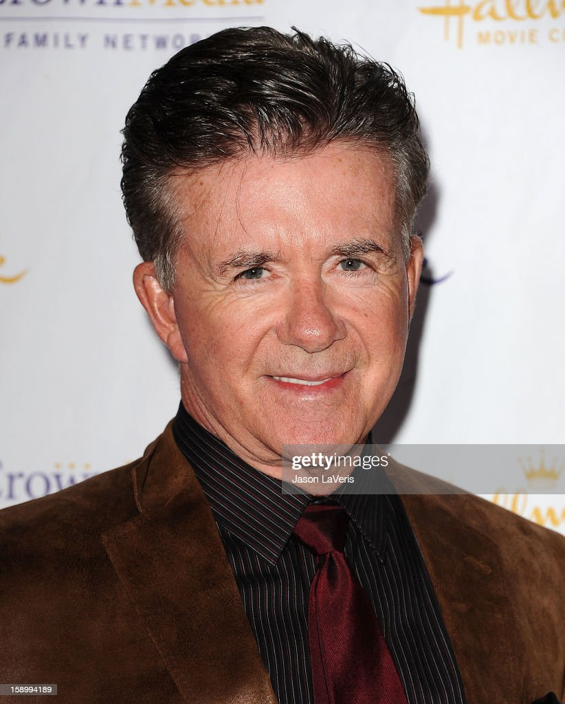 Actor Alan Thicke attends the Hallmark Channel 2013 winter press gala at Huntington Library on January 4, 2013 in Pasadena, California.