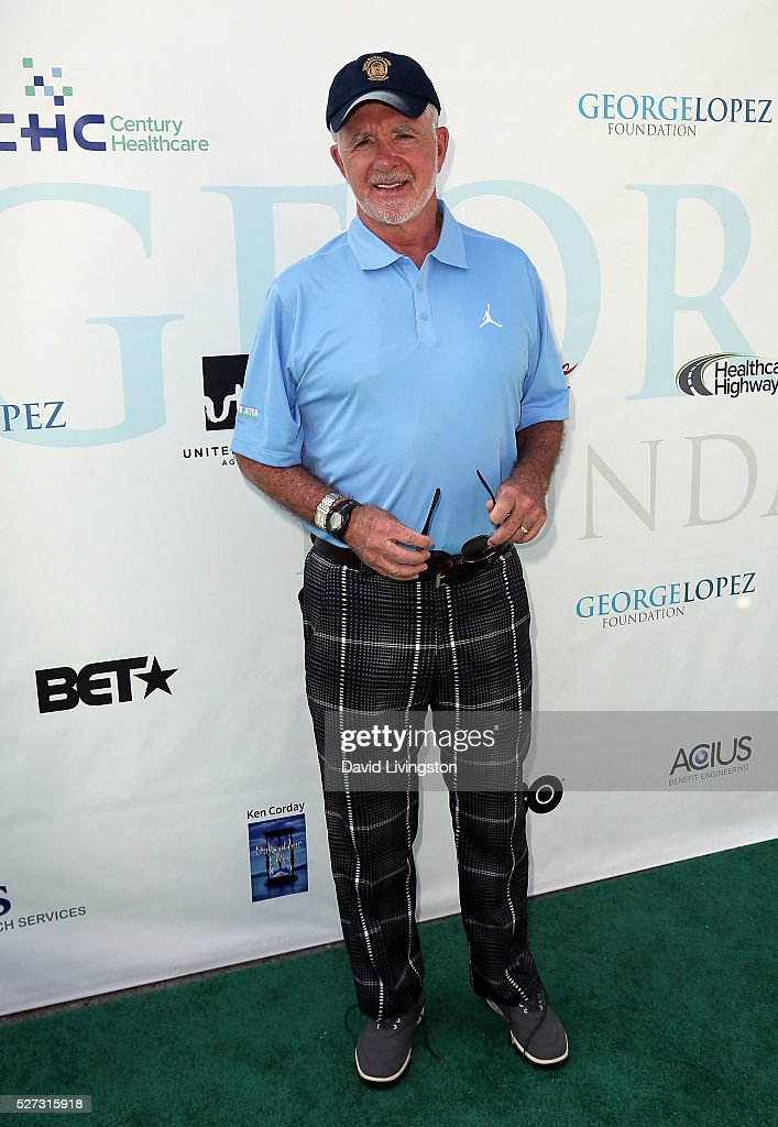 Actor <a gi-track='captionPersonalityLinkClicked' href=/galleries/search?phrase=Alan+Thicke&family=editorial&specificpeople=240157 ng-click='$event.stopPropagation()'>Alan Thicke</a> attends the Ninth Annual George Lopez Celebrity Golf Classic at Lakeside Golf Club on May 2, 2016 in Burbank, California.