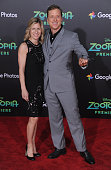 Actor Alan Tudyk and Charissa Barton arrive at the premiere of Walt Disney Animation Studios' 'Zootopia' at the El Capitan Theatre on February 17...