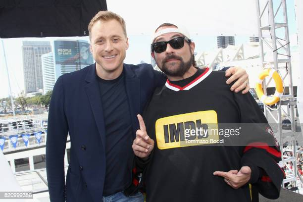 Actor Alan Tudyk and host Kevin Smith on the #IMDboat at San Diego ComicCon 2017 at The IMDb Yacht on July 22 2017 in San Diego California