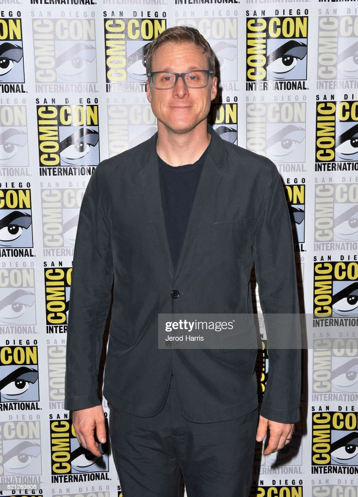 Actor Alan Tudyk at BBC AMERICA'S San Diego Comic-Con Press Line with the Stars and Producers of 'Dirk Gently's Holistic Detective Agency' and 'Doctor Who' at Hilton Bayfront on July 23, 2017 in San Diego, California.