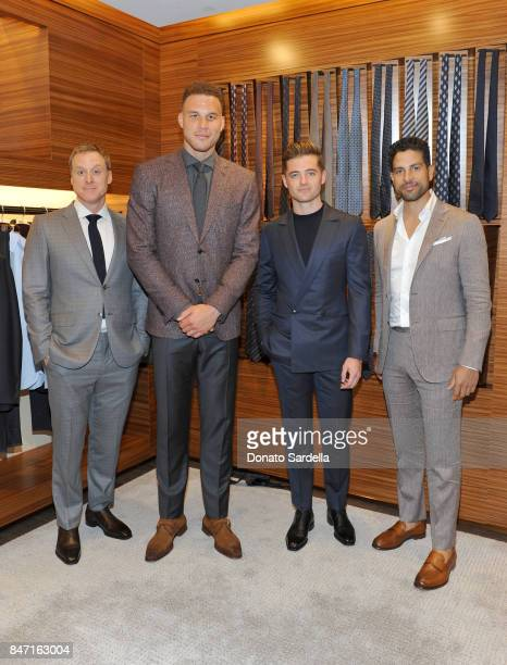 Actor Alan Tudyk host Blake Griffin profssional soccer player Robbie Rogers and actor Adam Rodriguez at Ermenegildo Zegna Blake Griffin Beverly Hills...