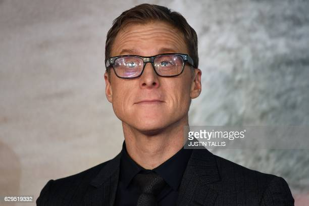 US actor Alan Tudyk poses upon arrival at the UK launch event of Lucasfilm's 'Rogue One A Star Wars Story' at the Tate Modern in central London on...
