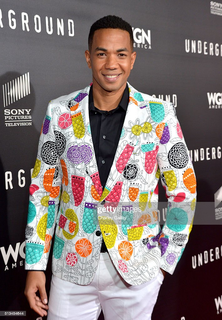Actor Alano Miller attends WGN America's 'Underground' World Premiere on March 2, 2016 in Los Angeles, California.