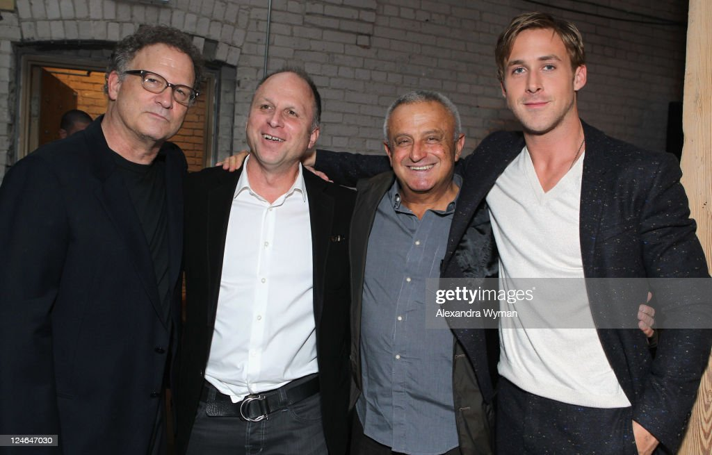 Actor Albert Brooks Bob Berney of FilmDistrict, party guest and Actor Ryan Goslin attend the 'Drive' party hosted by GREY GOOSE Vodka at Soho House Pop Up Club during the 2011 Toronto International Film Festival on September 10, 2011 in Toronto, Canada.