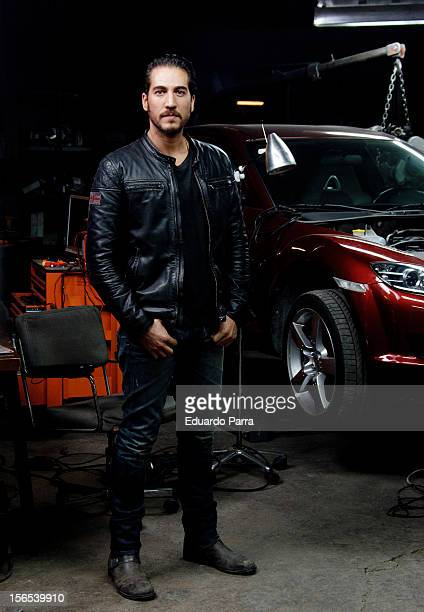 Actor Alberto Ammann attends a photo session at 'Combustion' set filming at Santa Catalina avenue on November 16 2012 in Madrid Spain