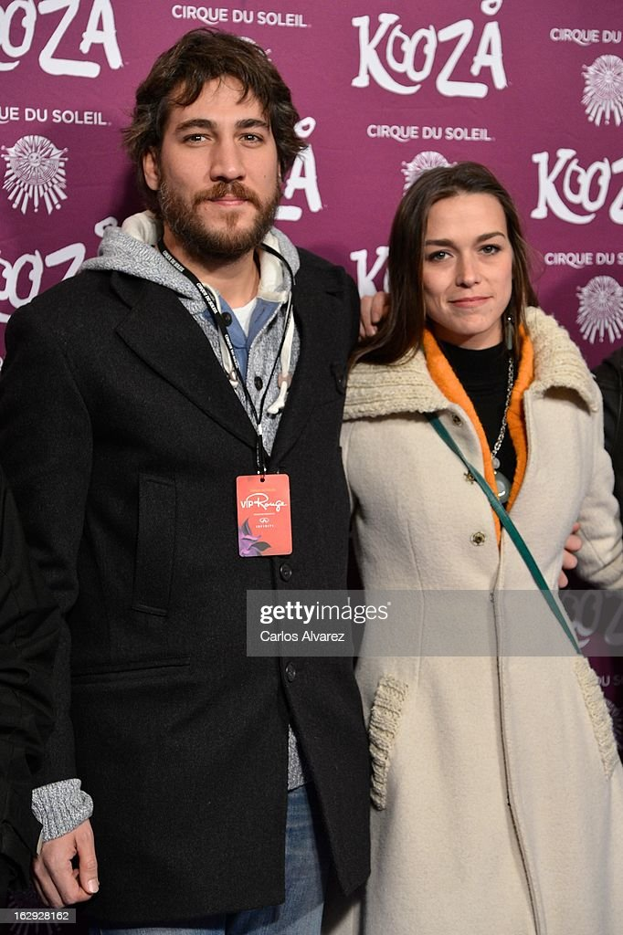 Actor <a gi-track='captionPersonalityLinkClicked' href=/galleries/search?phrase=Alberto+Ammann&family=editorial&specificpeople=6233402 ng-click='$event.stopPropagation()'>Alberto Ammann</a> (R) attends 'Cirque Du Soleil' Kooza 2013 premiere on March 1, 2013 in Madrid, Spain.