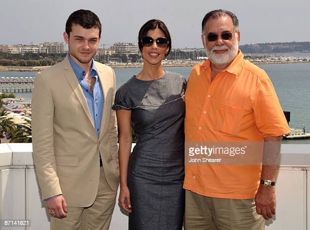 Actor Alden Ehrenreich actress Maribel Verdu and writer/director Francis Ford Coppola attend the Tetro Photocall at the Palais des Festivals during...