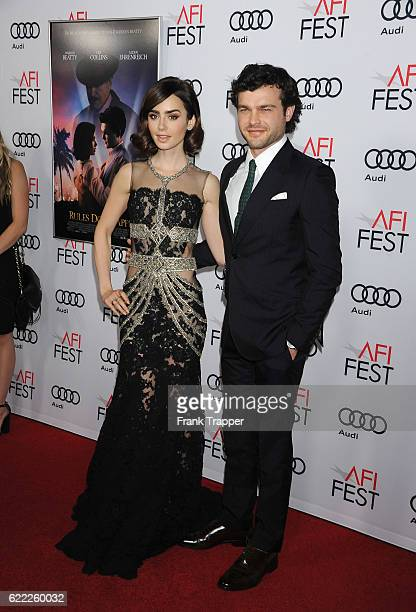 Actor Alden Ehrenreich and actress Lily Collins attend the premiere of 'Rules Don't Apply' held at AFI Fest 2016 presented by Audi at TCL Chinese...