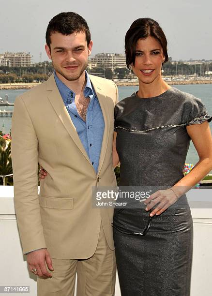 Actor Alden Ehrenreich and actress Maribel Verdu attend the Tetro Photocall at the Palais des Festivals during the 62nd Annual Cannes Film Festival...