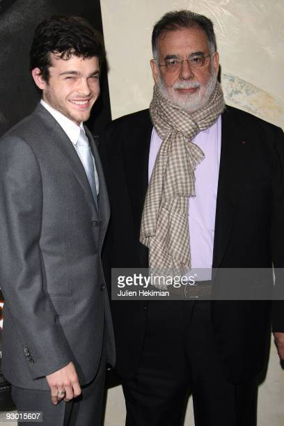 Actor Alden Ehrenreich and director Francis Ford Coppola attend the 'Tetro' Paris premiere at Cinema Max Linder on November 12 2009 in Paris France