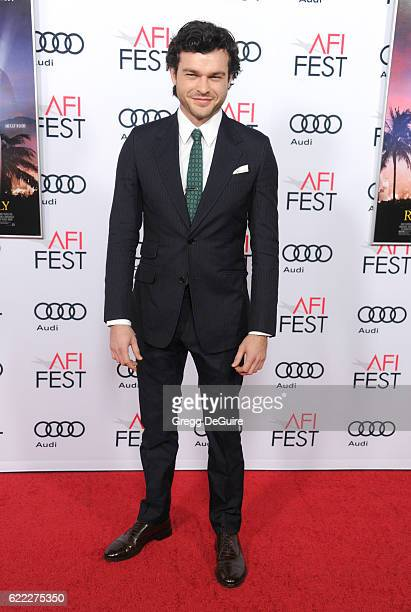 Actor Alden Ehrenreich arrives at AFI FEST 2016 Presented By Audi Opening Night Premiere Of 20th Century Fox's 'Rules Don't Apply' at TCL Chinese...