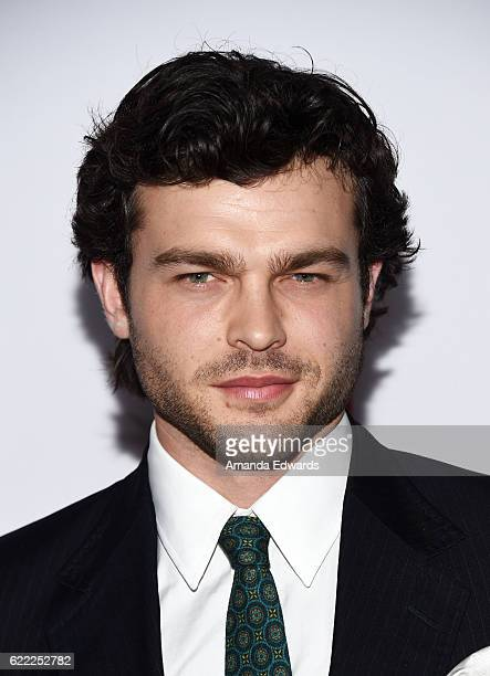 Actor Alden Ehrenreich arrives at the AFI FEST 2016 Presented by Audi Opening Night Premiere of 20th Century Fox's 'Rules Don't Apply' at the TCL...