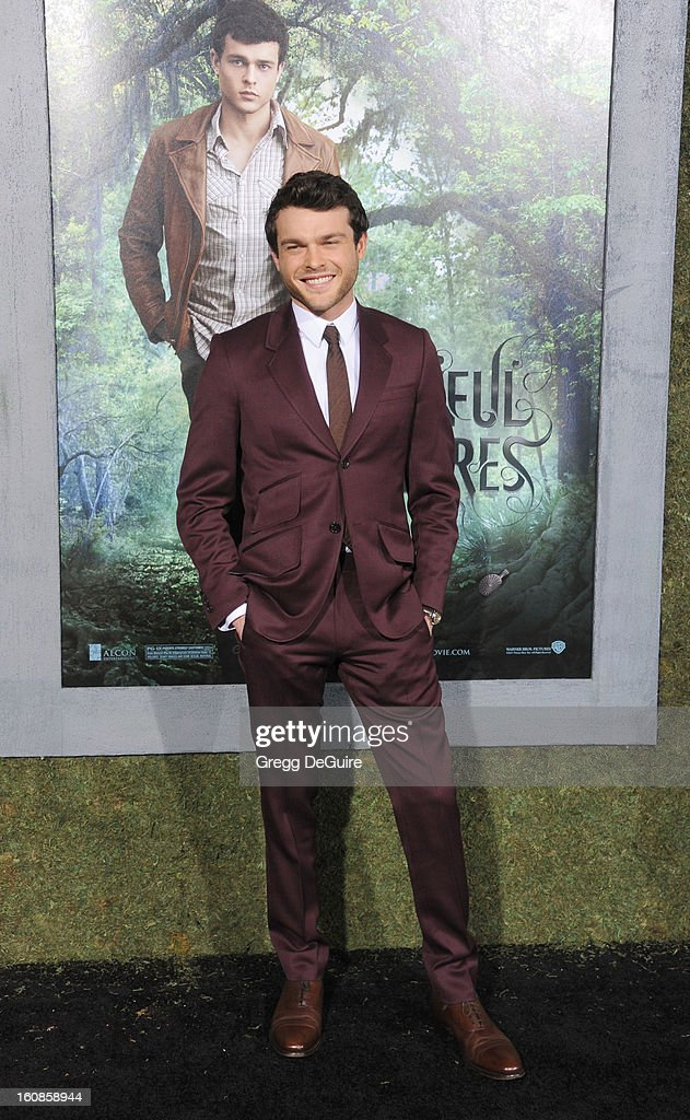 Actor Alden Ehrenreich arrives at the Los Angeles premiere of 'Beautiful Creatures' at TCL Chinese Theatre on February 6, 2013 in Hollywood, California.