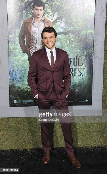 Actor Alden Ehrenreich arrives at the Los Angeles premiere of 'Beautiful Creatures' at TCL Chinese Theatre on February 6 2013 in Hollywood California