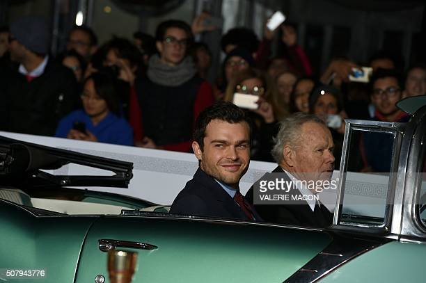 Actor Alden Ehrenreich arrives at The Universal Premiere of Hail Caesar at the Regency Village Theatre in Westwood California February 1 2016 / AFP /...