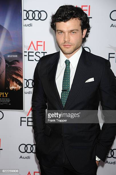 Actor Alden Ehrenreich attends the premiere of 'Rules Don't Apply' held at AFI Fest 2016 presented by Audi at TCL Chinese Theatre on November 10 2016...