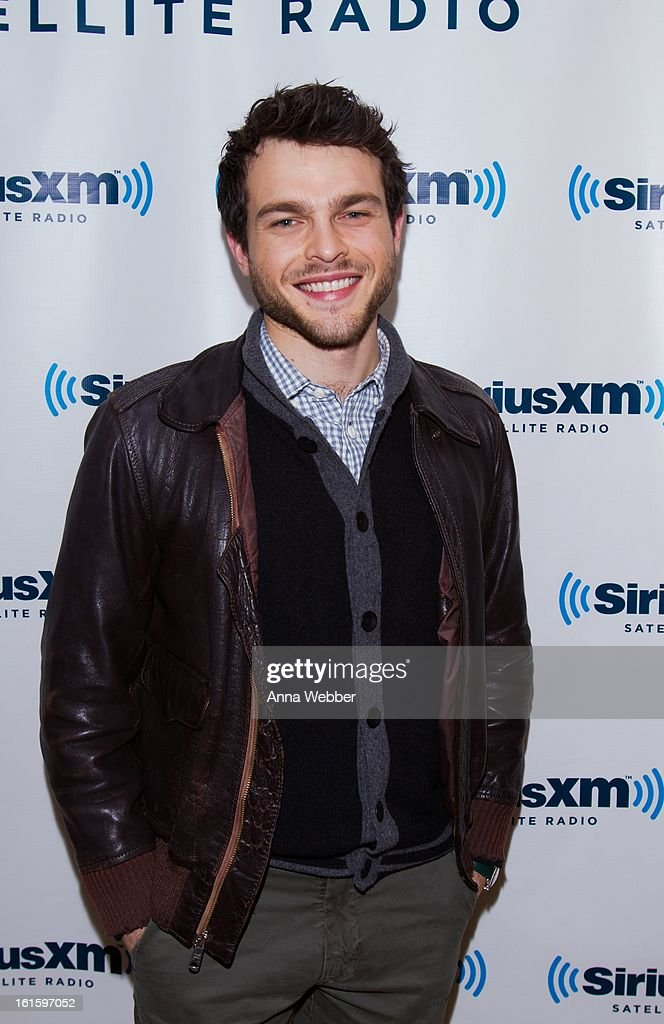 Actor Alden Ehrenreich visits SiriusXM Studios on February 12, 2013 in New York City.