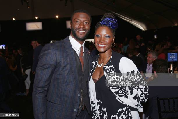 Actor Aldis Hodge and director/actor Yolonda Ross pose during the 2017 Film Independent Spirit Awards at the Santa Monica Pier on February 25 2017 in...