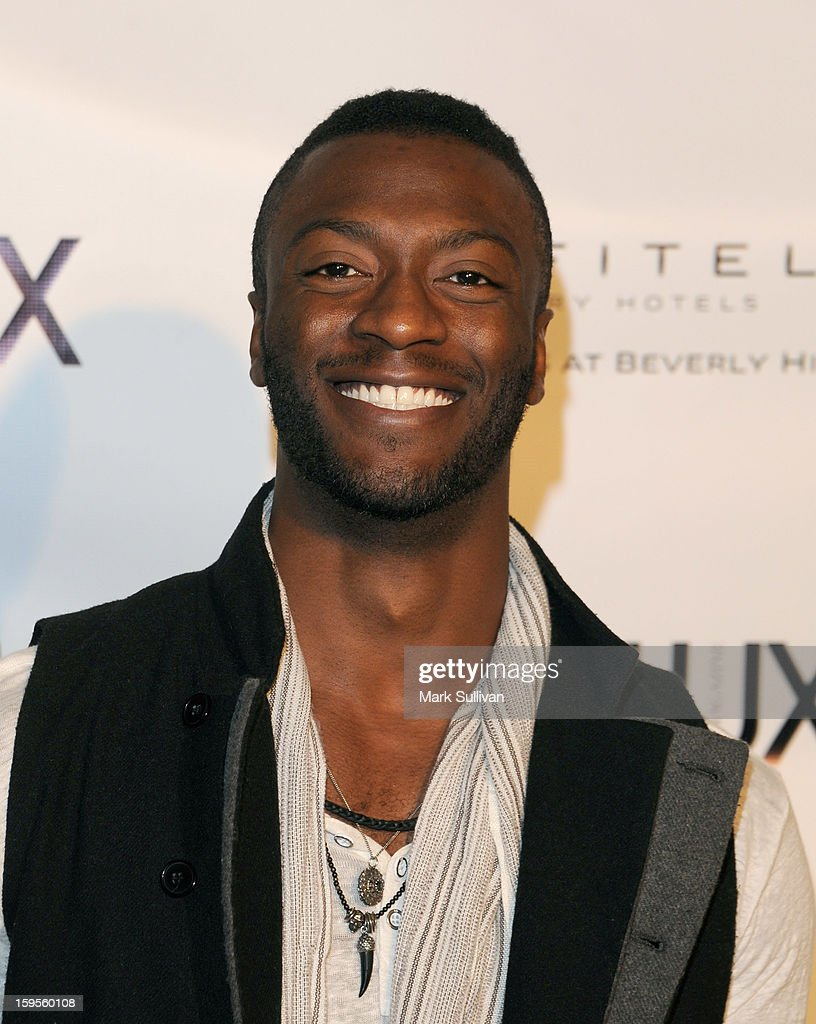 Actor Aldis Hodge arrives for the opening of Riviera 31 At Sofitel Los Angeles on January 15, 2013 in Los Angeles, California.
