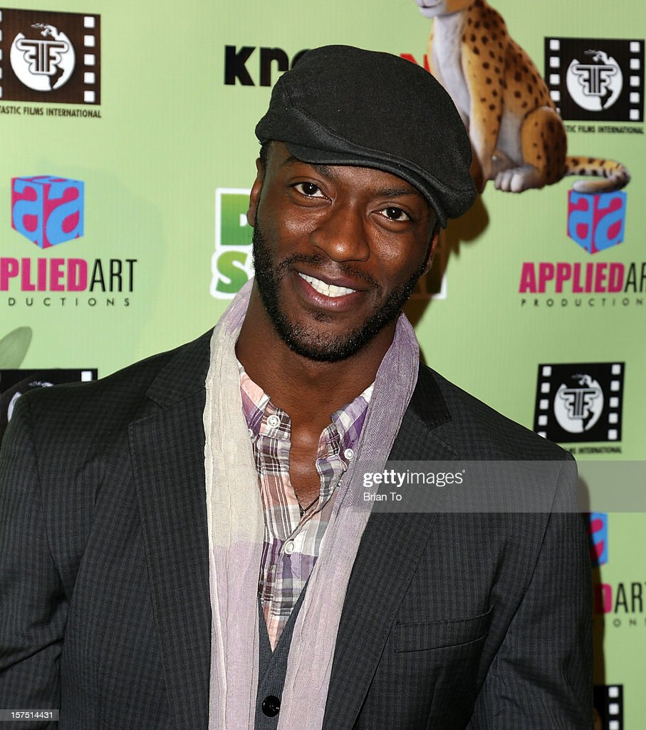 Actor Aldis Hodge attends 'Delhi Safari' - Los Angeles premiere at Pacific Theatre at The Grove on December 3, 2012 in Los Angeles, California.