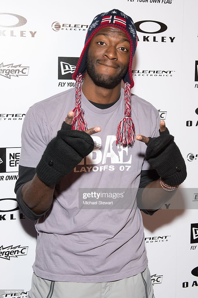 Actor <a gi-track='captionPersonalityLinkClicked' href=/galleries/search?phrase=Aldis+Hodge&family=editorial&specificpeople=2164244 ng-click='$event.stopPropagation()'>Aldis Hodge</a> attends Oakley Learn To Ride In Collaboration With New Era on January 19, 2013 in Park City, Utah.