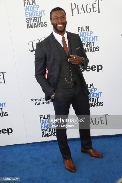 Actor Aldis Hodge attends the 2017 Film Independent Spirit Awards on February 25 2017 in Santa Monica California