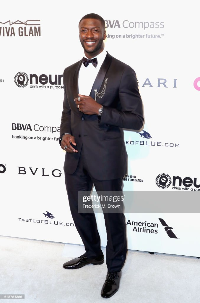 Actor Aldis Hodge attends the 25th Annual Elton John AIDS Foundation's Academy Awards Viewing Party at The City of West Hollywood Park on February 26, 2017 in West Hollywood, California.