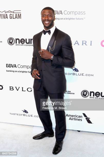 Actor Aldis Hodge attends the 25th Annual Elton John AIDS Foundation's Academy Awards Viewing Party at The City of West Hollywood Park on February 26...