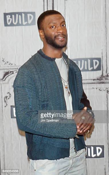 Actor Aldis Hodge attends the Build series to discuss 'Underground' at Build Studio on March 7 2017 in New York City