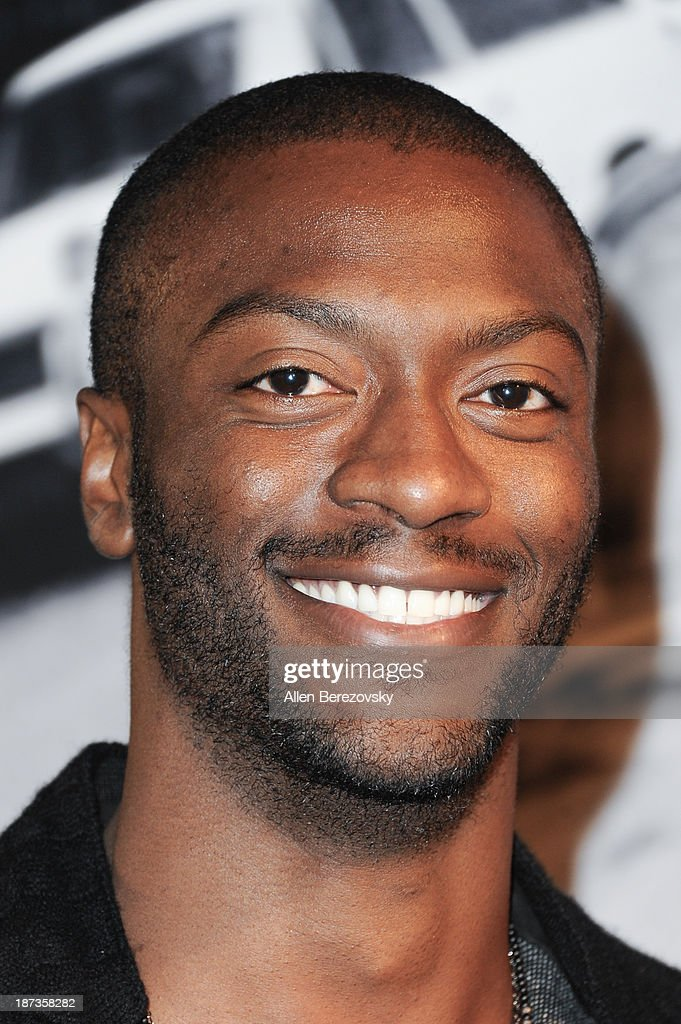 Actor <a gi-track='captionPersonalityLinkClicked' href=/galleries/search?phrase=Aldis+Hodge&family=editorial&specificpeople=2164244 ng-click='$event.stopPropagation()'>Aldis Hodge</a> attends the John Varvatos' new book 'John Varvatos: Rock In Fashion' launch party at John Varvatos Los Angeles on November 7, 2013 in Los Angeles, California.