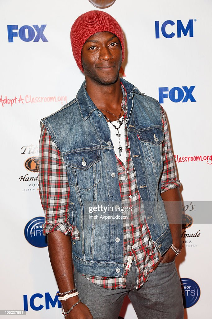 Actor Aldis Hodge attends the Junior Hollywood Radio & Television Society (JHRTS) Holiday Party at Boulevard3 on December 11, 2012 in Hollywood, California.