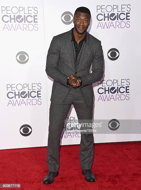 Actor Aldis Hodge attends the People's Choice Awards 2016 at Microsoft Theater on January 6 2016 in Los Angeles California
