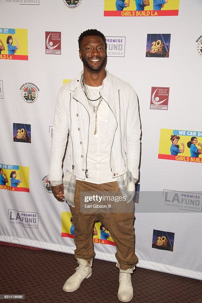 Actor Aldis Hodge attends the LA Promise Fund Screening Of 'Hidden Figures' at USC Galen Center on January 10, 2017 in Los Angeles, California.