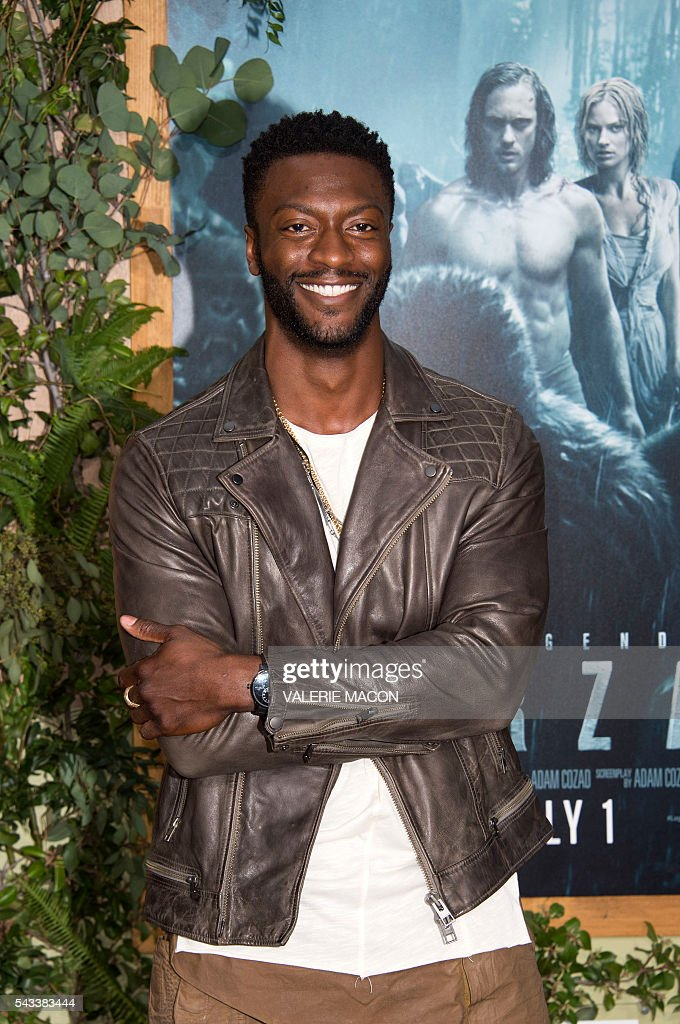 Actor Aldis Hodge attends the world premiere of 'The Legend of Tarzan' in Hollywood, California, on June 27, 2016. / AFP / VALERIE