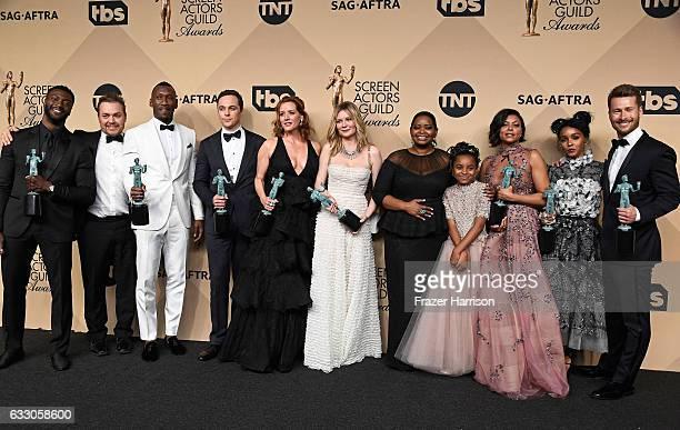 Actor Aldis Hodge filmmaker Theodore Melfi actors Mahershala Ali Jim Parsons Kimberly Quinn Kirsten Dunst Octavia Spencer Saniyya Sidney Taraji P...