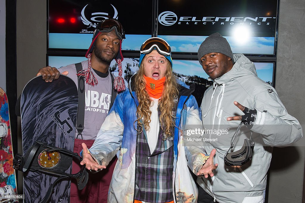 Actor <a gi-track='captionPersonalityLinkClicked' href=/galleries/search?phrase=Aldis+Hodge&family=editorial&specificpeople=2164244 ng-click='$event.stopPropagation()'>Aldis Hodge</a>, snowboarder The Dingo and actor <a gi-track='captionPersonalityLinkClicked' href=/galleries/search?phrase=Edwin+Hodge&family=editorial&specificpeople=2650969 ng-click='$event.stopPropagation()'>Edwin Hodge</a> attend Oakley Learn To Ride In Collaboration With New Era on January 19, 2013 in Park City, Utah.