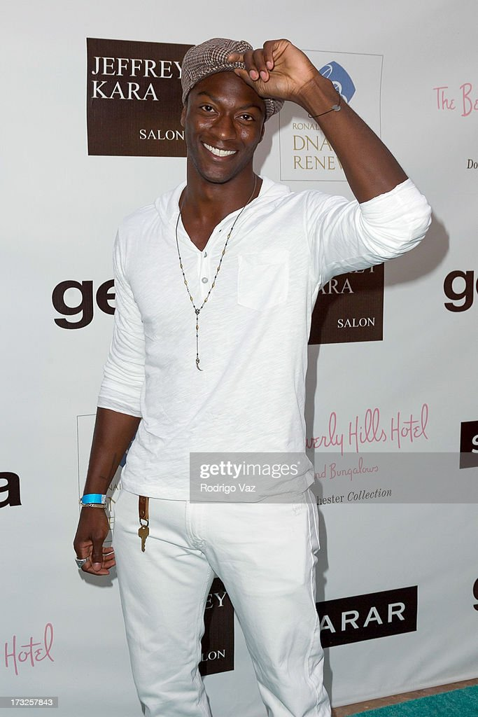 Actor Aldis Hodges arrives at 'The Fountain Of Youth White Party' to celebrate