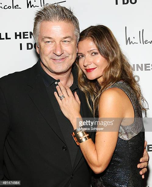 Actor Alec Baldwin and actress and singer Jill Hennessy attend the album release party for Jill Hennessy's 'I Do' at The Cutting Room on October 5...