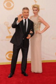Actor Alec Baldwin and daughter Ireland Baldwin arrive at the 65th Annual Primetime Emmy Awards at Nokia Theatre LA Live on September 22 2013 in Los...
