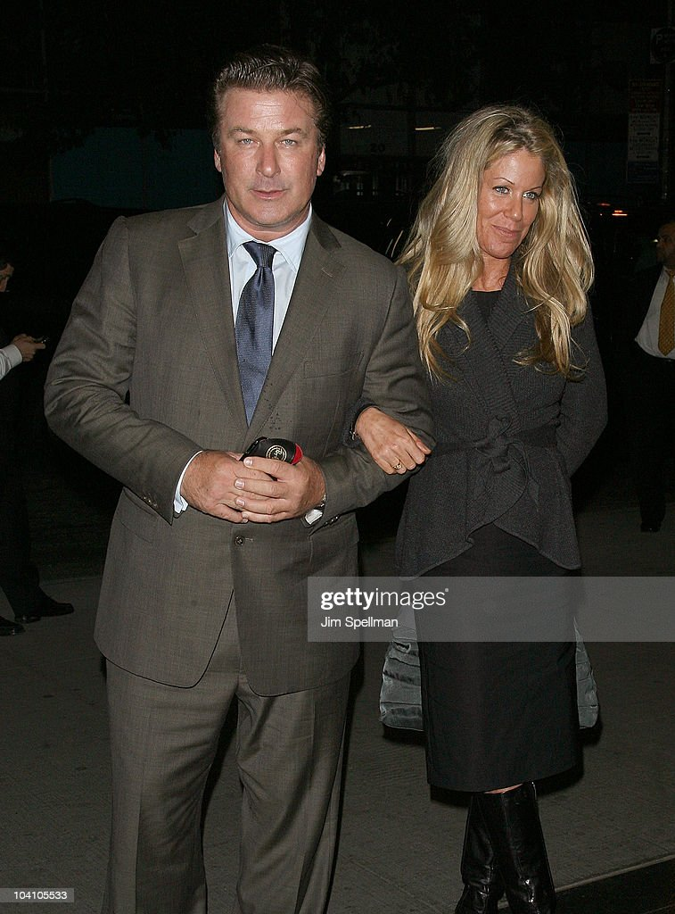 Actor Alec Baldwin and guest attend the Cinema Society and BlackBerry Torch screening of 'You Will Meet a Tall Dark Stranger' at MOMA on September 14...