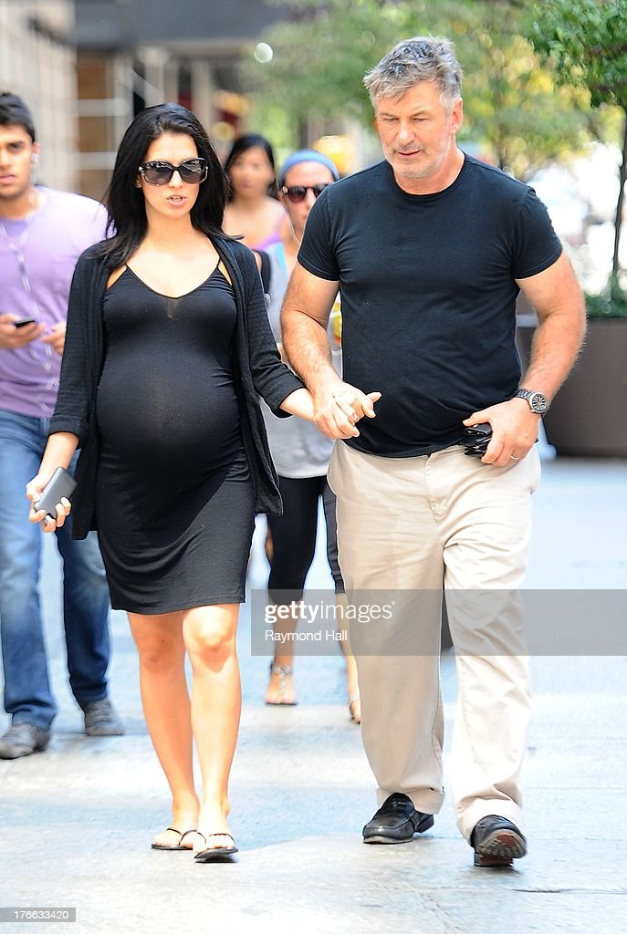 Actor Alec Baldwin and Hilaria Baldwin are seen in Soho on August 16, 2013 in New York City.