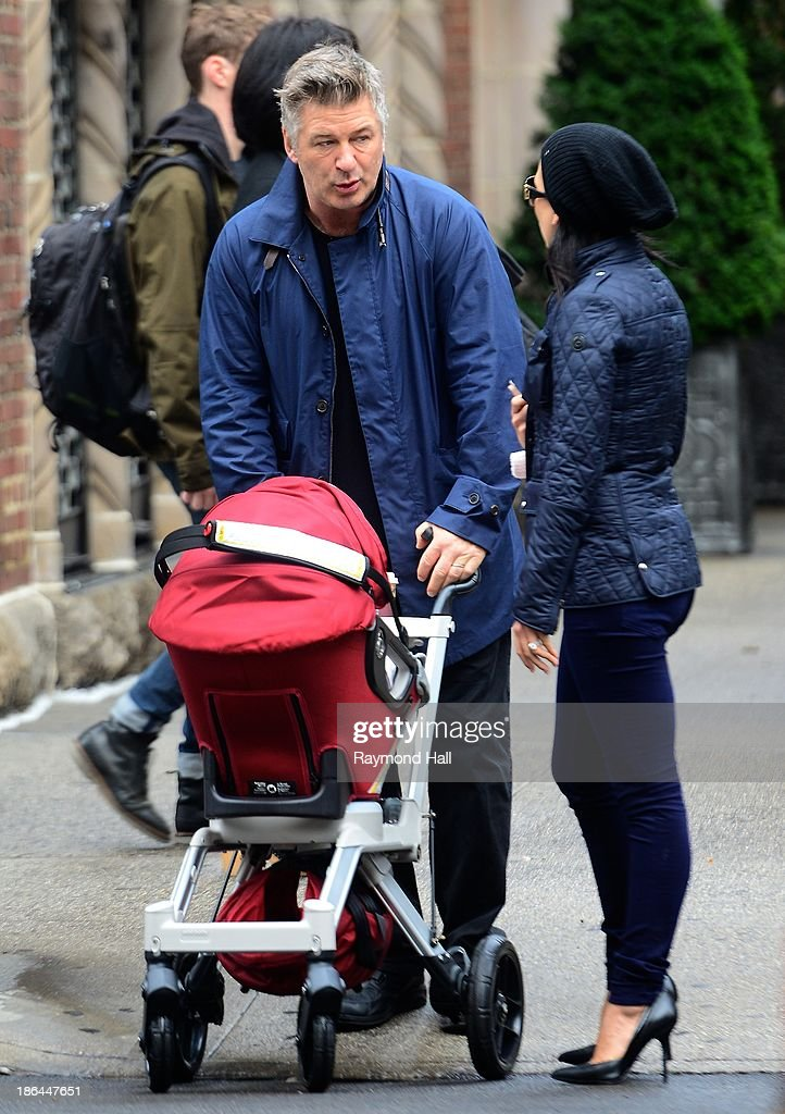 Actor <a gi-track='captionPersonalityLinkClicked' href=/galleries/search?phrase=Alec+Baldwin&family=editorial&specificpeople=202864 ng-click='$event.stopPropagation()'>Alec Baldwin</a> and <a gi-track='captionPersonalityLinkClicked' href=/galleries/search?phrase=Hilaria+Baldwin&family=editorial&specificpeople=7856471 ng-click='$event.stopPropagation()'>Hilaria Baldwin</a> are seen in SoHo on October 31, 2013 in New York City.