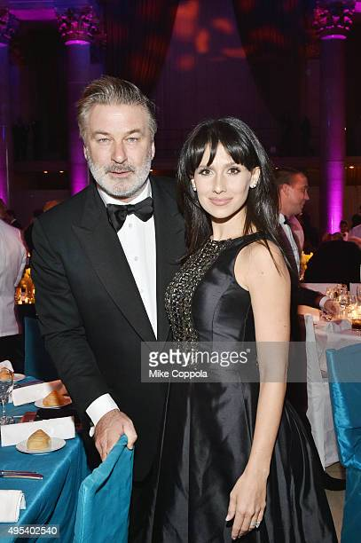 Actor Alec Baldwin and Hilaria Baldwin attend Elton John AIDS Foundation's 14th Annual An Enduring Vision Benefit at Cipriani Wall Street on November...
